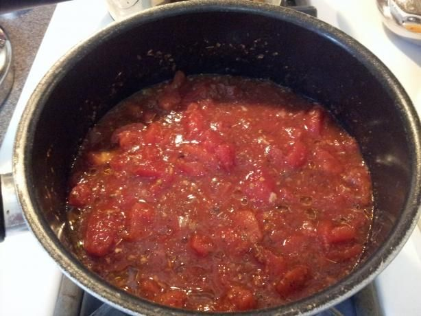 Fresh Tasting spaghetti sauce recipe from America's Test Kitchens. I had some crushed tomatoes in the pantry and decided to try this sauce. So easy!