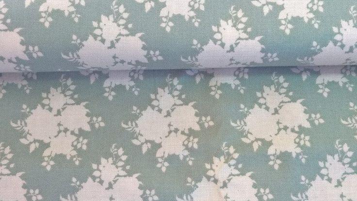 Stoff Blumen - Tilda Quilt Collection Sally bluegreen - ein Designerstück von Stoffe-guenstig-kaufen bei DaWanda