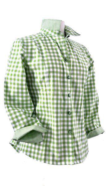 Hemdblusen - Bluse fadenFROH - grün kariert - ein Designerstück von Manufaktur-fadenFROH bei DaWanda