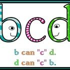 This is a poster I made to help my students remember how to write lowercase b and lowercase d correctly. I just remind them that in the alphabet b ...