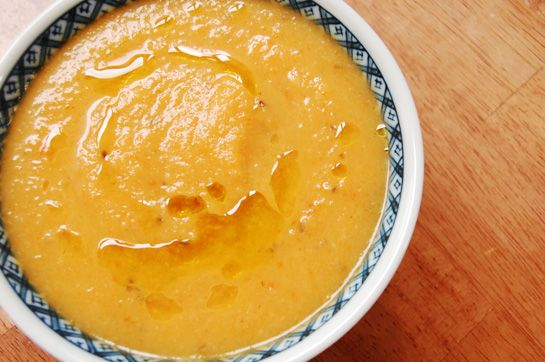 Mmmm carrot & celery root soup!