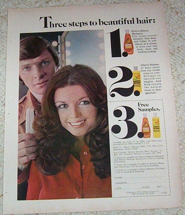 1973 vintage ad - Alberto Balsam shampoo Girl hair PRINT 1-page AD #Advertisement