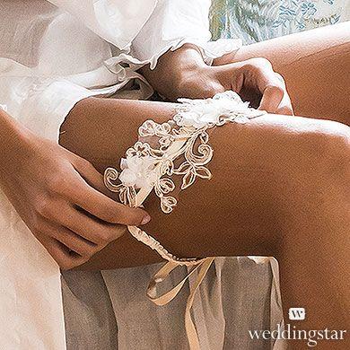Embroidered Appliqué Bridal Garter
