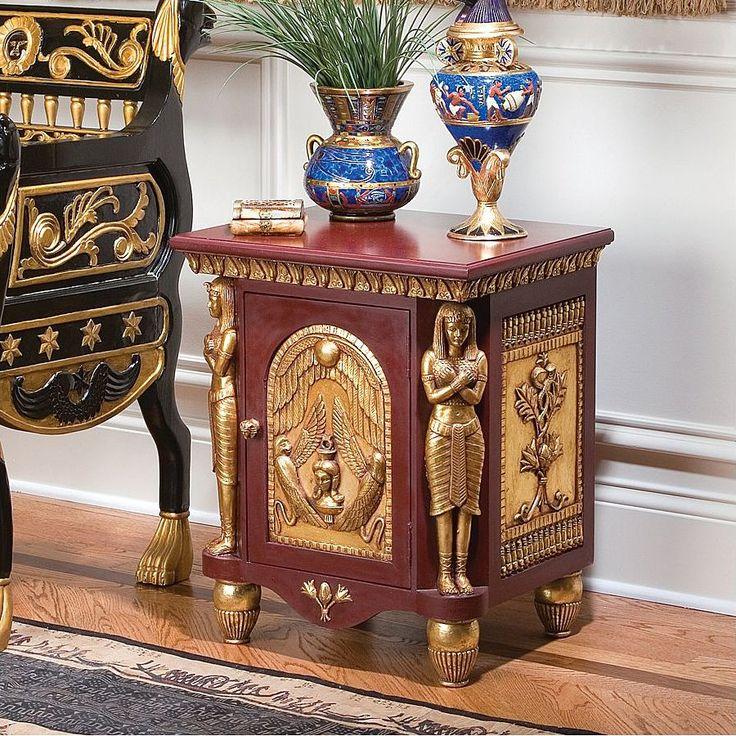 Design Toscano Palace Ramses Egyptian Occasional End Table   Home Furniture  Showroom Part 43