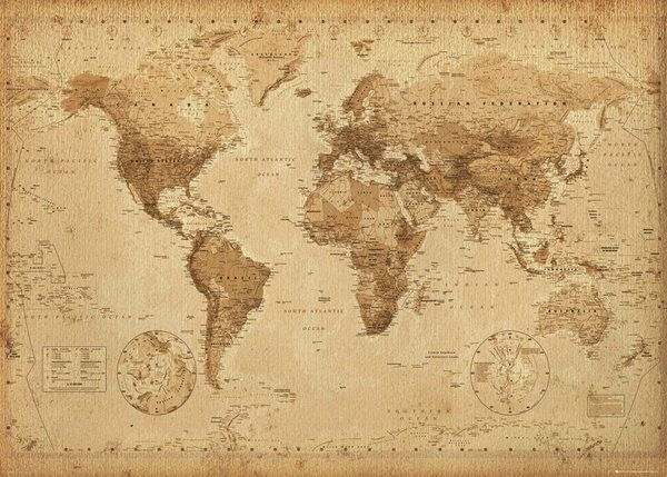 23 best art images on pinterest oil on canvas canvas and canvases world map vintage antique style giant poster 100x140cm wall chart picture gumiabroncs Image collections