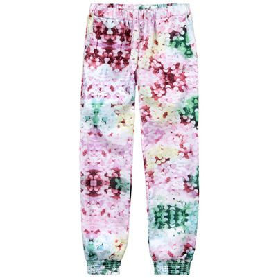 Guess Loose fit flower-printed satin trousers Prints
