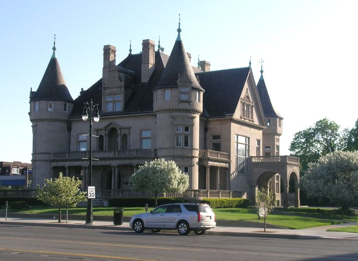 Detroit's historic Hecker-Smiley Mansion, the former home of Col. Frank Joseph Hecker, designed by famed architect Louis Kamper, completed in 1892.