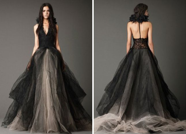 18 Beautiful Black Wedding Dresses via Brit + Co.