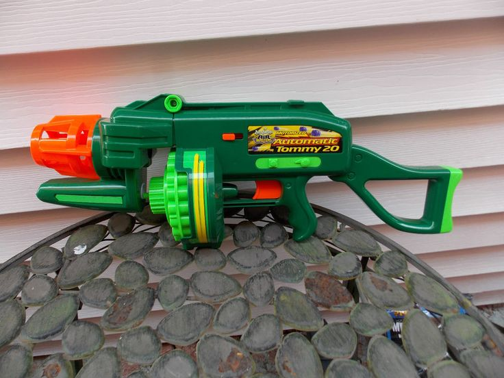 Buzz Bee Toys Air Blasters Motorized Automatic Tommy 20 Dart Gun Works AWESOME