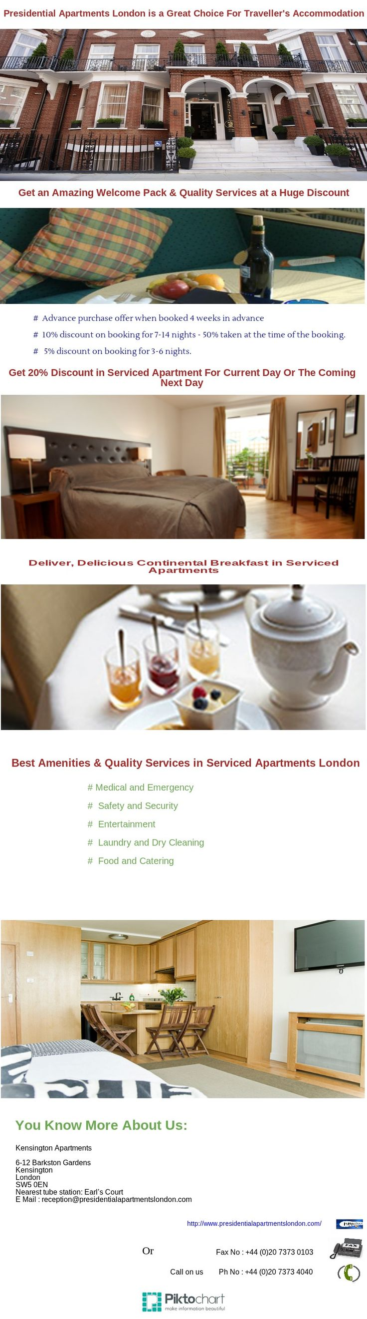 Get an amazing services and quality package with presidential serviced apartments, when some one is visiting for business accommodation or any trip .
