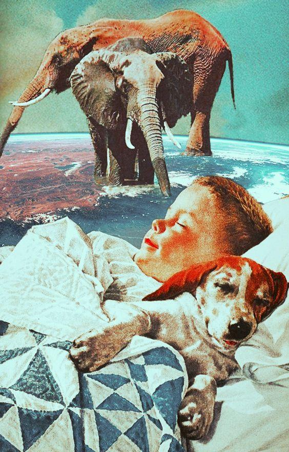 Retrospective Dream. Mixed Media Collage Art By Ayham Jabr. Instagram-Facebook