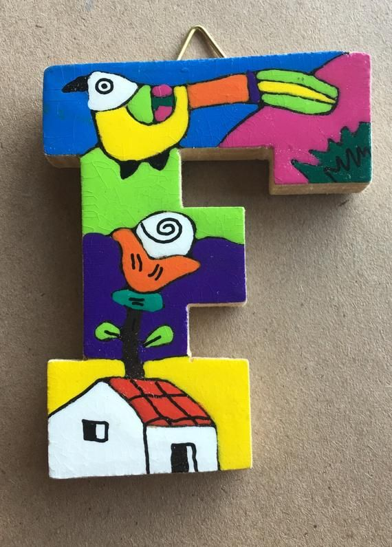 La Palma Folk Art from El Salvador Letter G Handcrafted from Recycled Wood