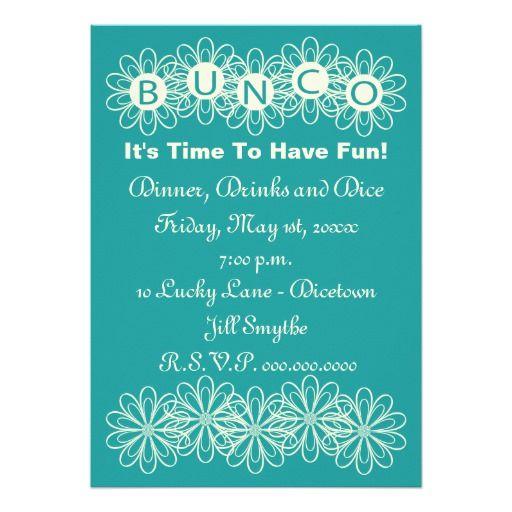 8 best Invitations images on Pinterest Invitation wording Bunco