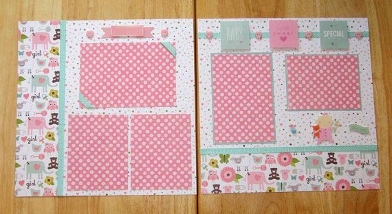 Baby Girl Scrapbook New Baby Girl Scrapbook by AngelBDesigns4You