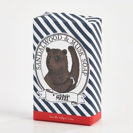 Bear soap packaging