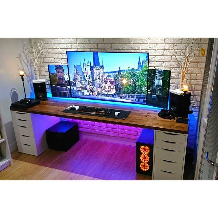 25 b sta id erna om pc tisch p pinterest pc tisch ikea. Black Bedroom Furniture Sets. Home Design Ideas