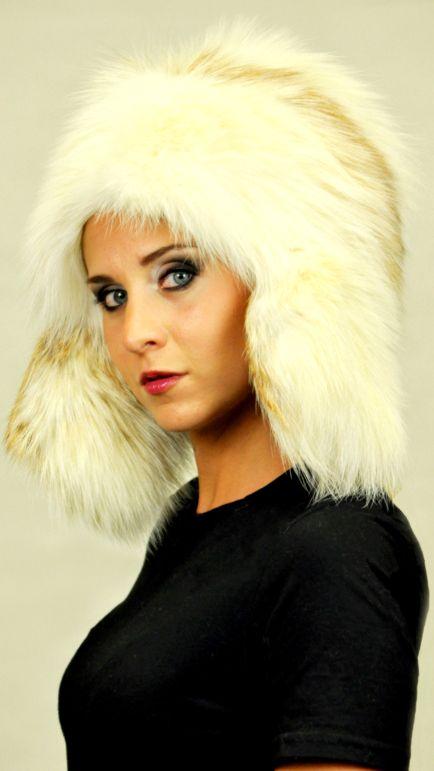 Arctic Fire fox fur hat   best quality women's fur hats