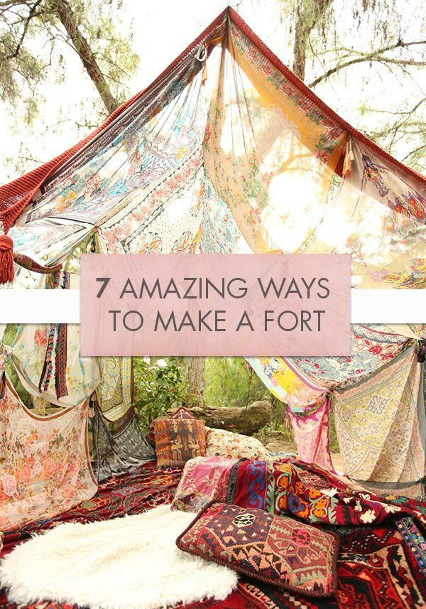 Calling all daydreamers and play pretenders! Gather up your pillows, cushions, and blankets to spend an afternoon building a grand fortress with your kids. These 7 Amazing Ways to Make a Fort, from Hello Wonderful, are a fantastic way to spend a cold winter day fostering your little one's imagination.