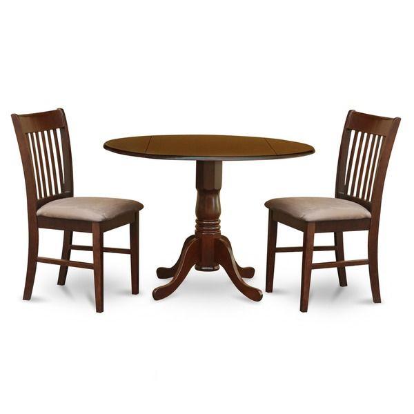 3 Piece Kitchen Round Wooden Dining Set