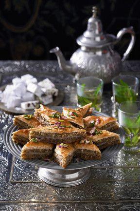 Pistachio, walnut and almond baklava. #pastry #recipe