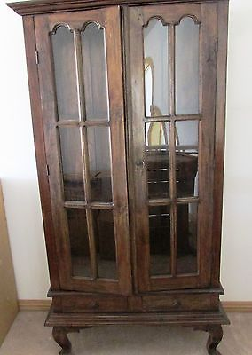 Vintage Wooden Display Cabinet Gl P Doors