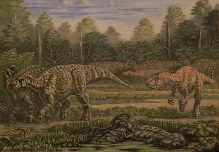 Muttaburrasaurus, Australovenator, Koolasuchus by ABelov2014 on DeviantArt