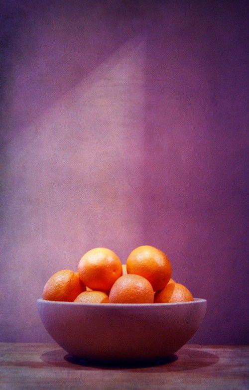 Purple & orange om het paarse en oranje in evenwicht te houden heb je veel meer paars nodig en dat zie je hier ook!