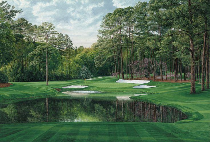 Augusta National : The 16th Hole, 'Redbud', Augusta National Golf Club #LindaHartough