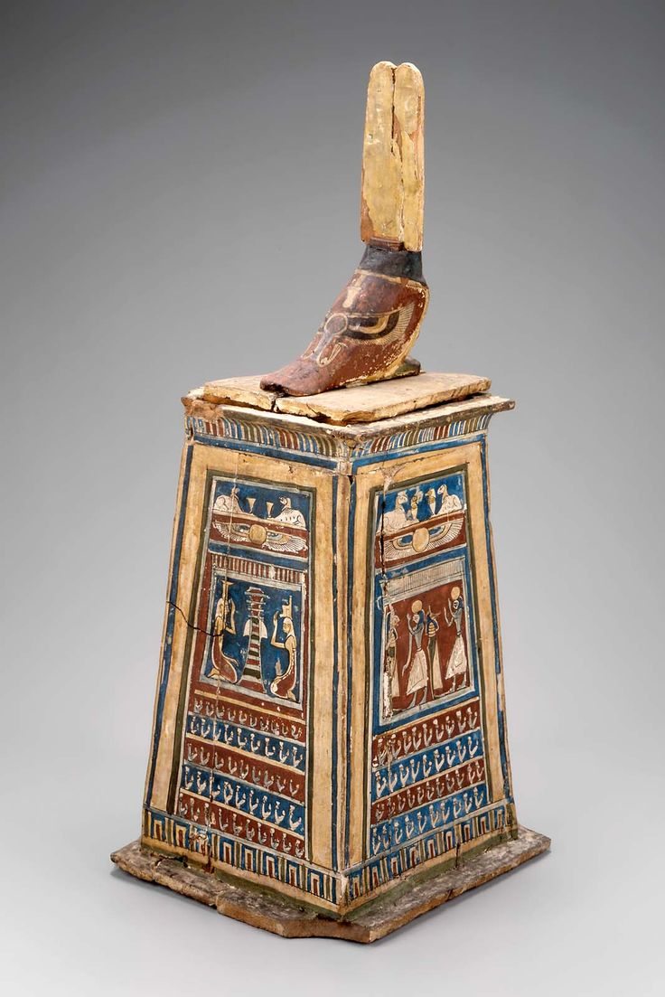 Authentic egyptian furniture - Canopic Chest Egyptian Hellenistic Period Ptolemaic Dynasty 305 30 B C