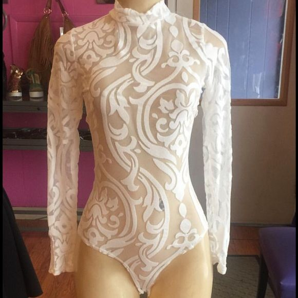 White leotard White Long Sleeve Leotard, available in S, M, L please let me know what size you need so I can create a listing Other
