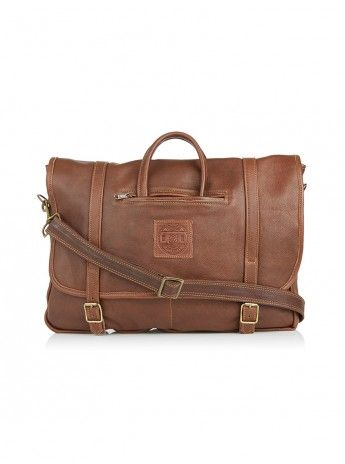The Russell briefcase Brown