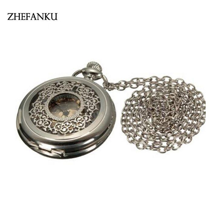 Fashion Modern Bronze Crystal Flower Quartz Pocket Watch Necklace Pendant Women Lady Girl Birthday Gift Relogio De Bolso Antigo #Affiliate