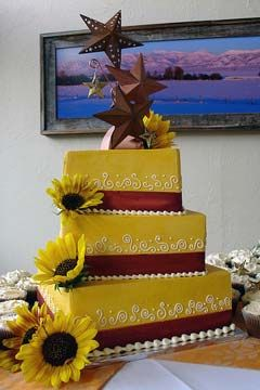 Sunflower wedding cake!