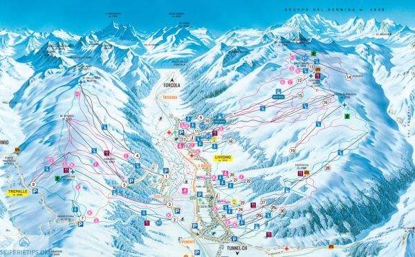 ❄⛷ Updated Livigno Piste Map 2018/2019 - See large version on ...