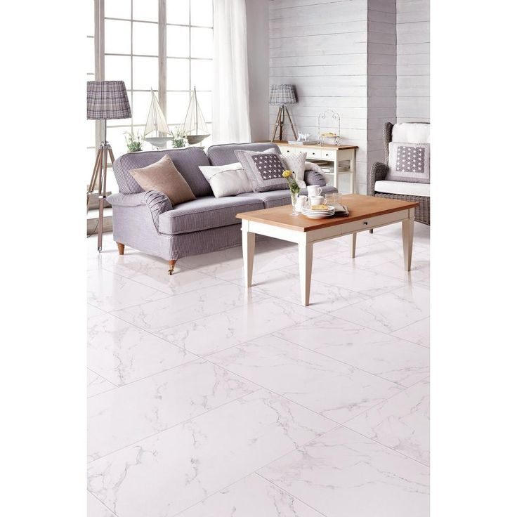 Carrara Polished Porcelain Tile - 16in. x 32in. - 100136241   Floor and Decor