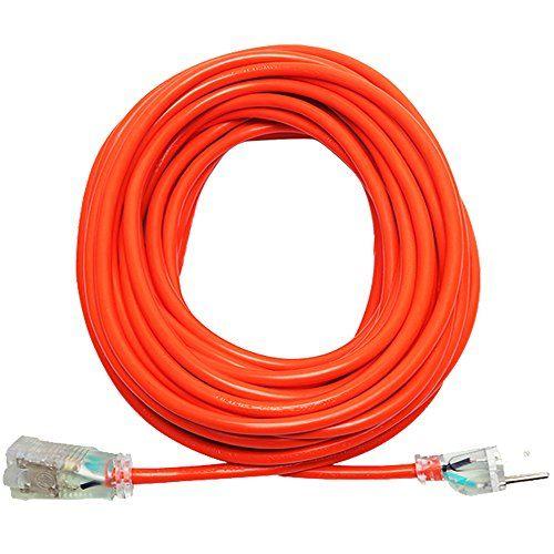 KMC 16AWG Power Outdoor Extension Cord - 50 Feet (KT101-1650A) #Power #Outdoor #Extension #Cord #Feet