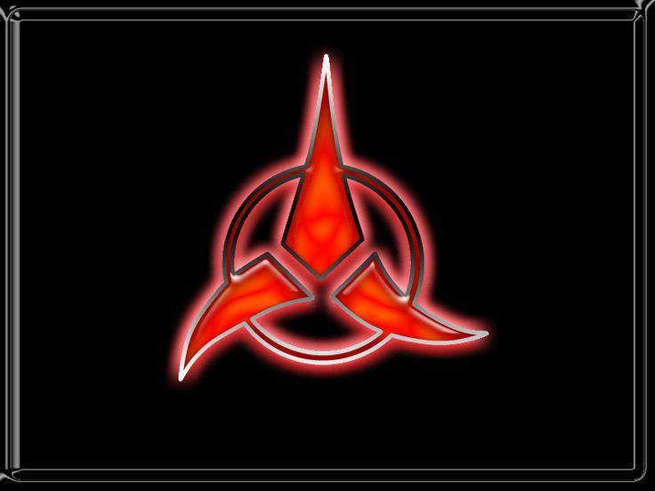 Star trek klingon star trek and stars on pinterest - Star trek symbol wallpaper ...