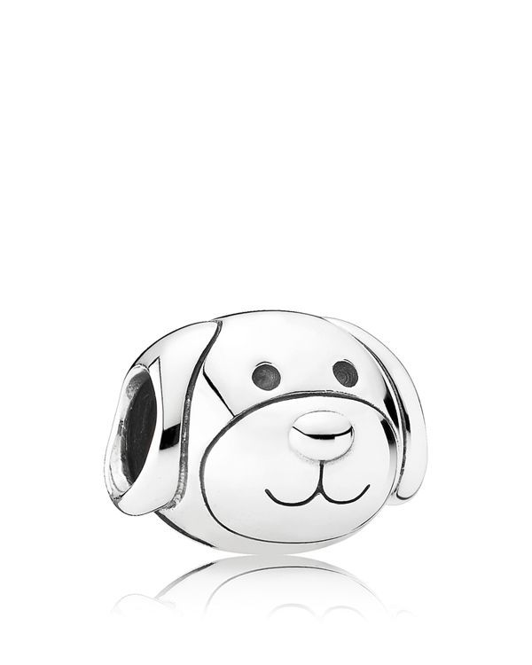 Pandora Charm - Sterling Silver Devoted Dog, Moments Collection