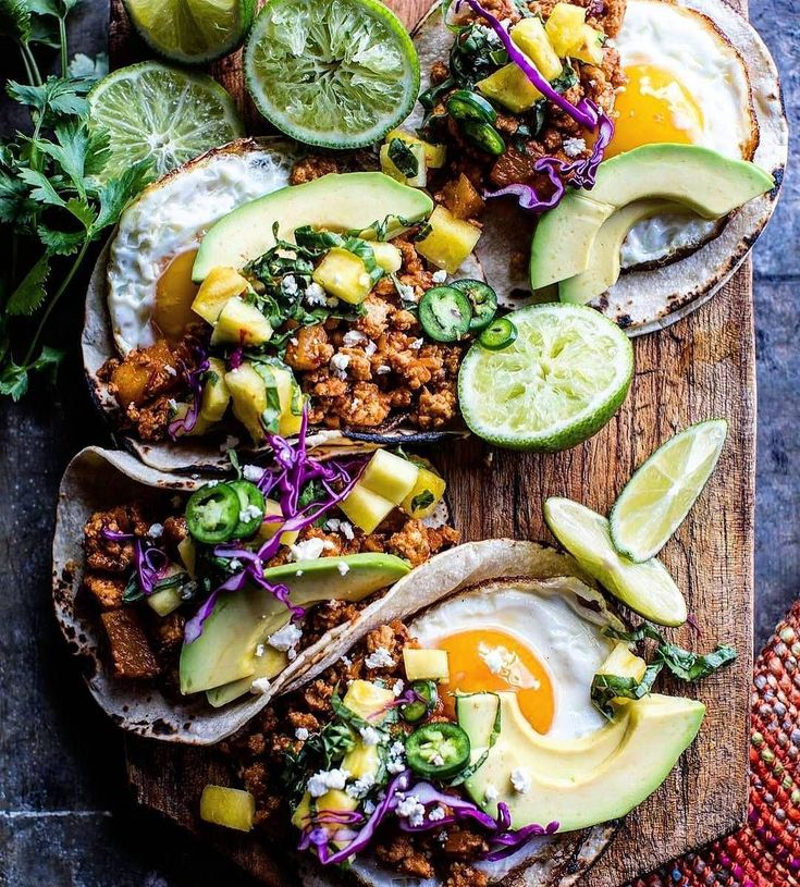 Breakfast Tacos Al Pastor. Eggs spicy pineapple chicken basil salsa a little salty cheese. #FTW! Courtesy: Half Baked Harvest @halfbakedharvest | @thefeedfeed . . . . . Blog: http://ift.tt/1vCV6pv #riseandshine #morning #sunrise #love #breakfast #brunch #coffee #farmtotable #fresh #organic #taco #tacos #travel #grill #grilling #foodstagram #foodporn #foodie #chef #cheflife #eggs #bacon #chicken #meatlover #carnivore #paleo #glutenfree #photooftheday #withcoffeeeicandoanythin