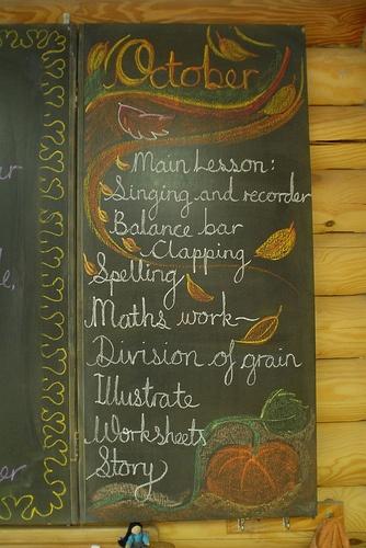 Waldorf ~ Rhythm ~ Morning classroom lots of blackboard drawings/daily rhythm here https://www.flickr.com/photos/16831982@N00/sets/72157603590310794/
