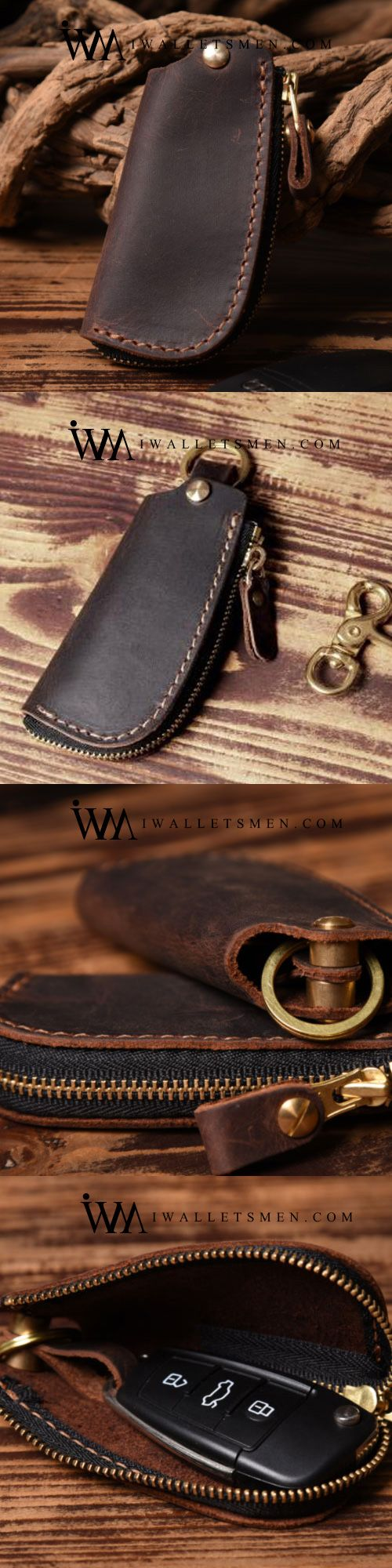 Handmade Leather Mens Cool Car Key Wallet Car Key Holder Car Key Case for  Men