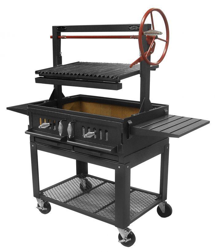 "Santa Maria 36"" w/Fire Brick, Grill Head, Firebox & Cart, Double Door, Single Grate - Item #3601-36DSICRT Commercial"