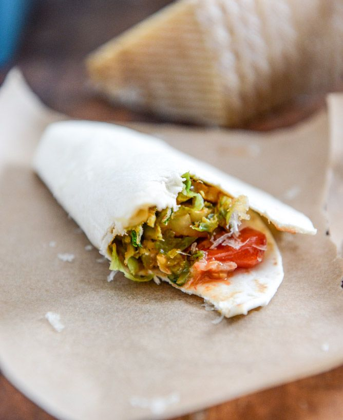 Crispy Brussels Sprouts Tacos with Manchego and Caramelized Shallot ...
