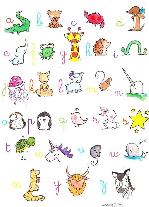 Alphabet Print 8X10 Colorful Archival Print. $20.00, via Etsy by ohhellodear