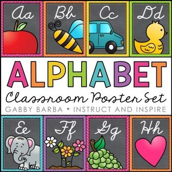 Cursive Alphabet Posters These printables feature bright alphabet picture cards. Each poster measures approximately 7.5 x 10 inches. Every poster is included in both a polka dot and chevron version. This set includes: •26 Posters (PDF Files) -A: Apple -B: Bee -C: Car -D: Duck -E: Elephant -F: Flowers -G: Grapes -H: Heart -I: Ice Cream -J: Juice -K: Kite -L: Ladybug -M: Mouse -N: Necklace -O: Orange -P: Pig -Q: Queen -R: Rocket -S: Sun -T: Train -U: Umbrella -V: Vegetables -W: Wind -X…