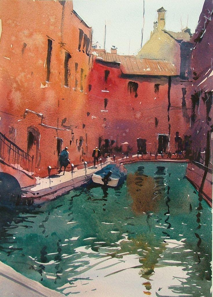 Tim Wilmot Watercolours Ponte Dei Penini Venice