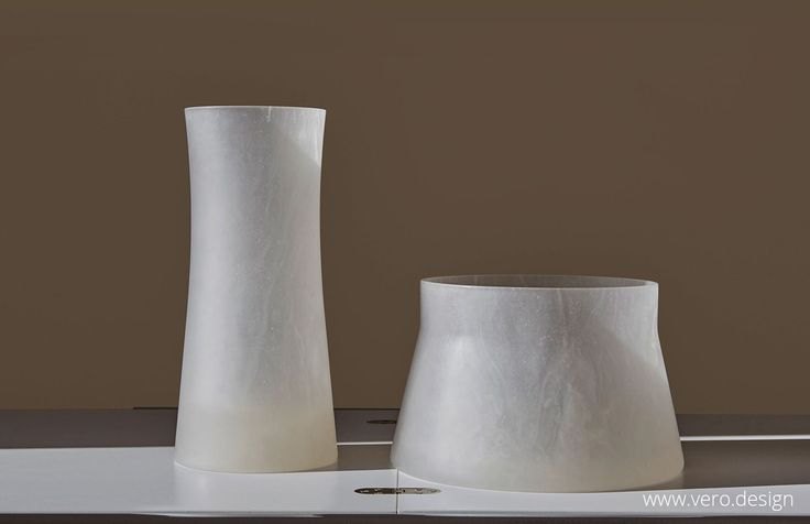 Translucent Alabaster reinterpreted for contemporary living. Luna collection at https://vero.design/home/ .