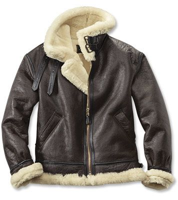 """B-3 Bomber Jacket - Regular even sizes: 38-48; about 25½"""" long in size 40. 
