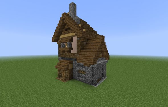 Minecraft Medieval House 05 590x376