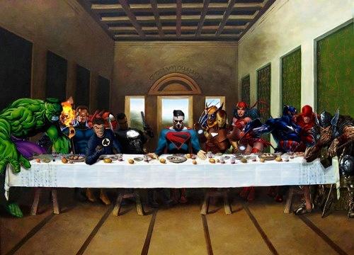 Superhero Wallpaper Hd The Last Supper Superheroes Amp Villains